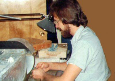 Bob in lapidary shop