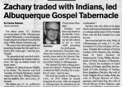 J.C. Zachary Sr. Opituary